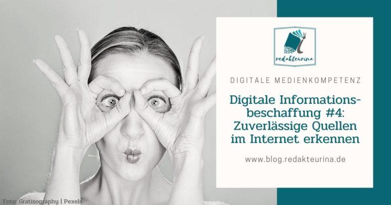 Beitragsbild Redakteurina Digitale Informationsbeschaffung Teil 4 Zuverlässige Quellen im Internet erkennen